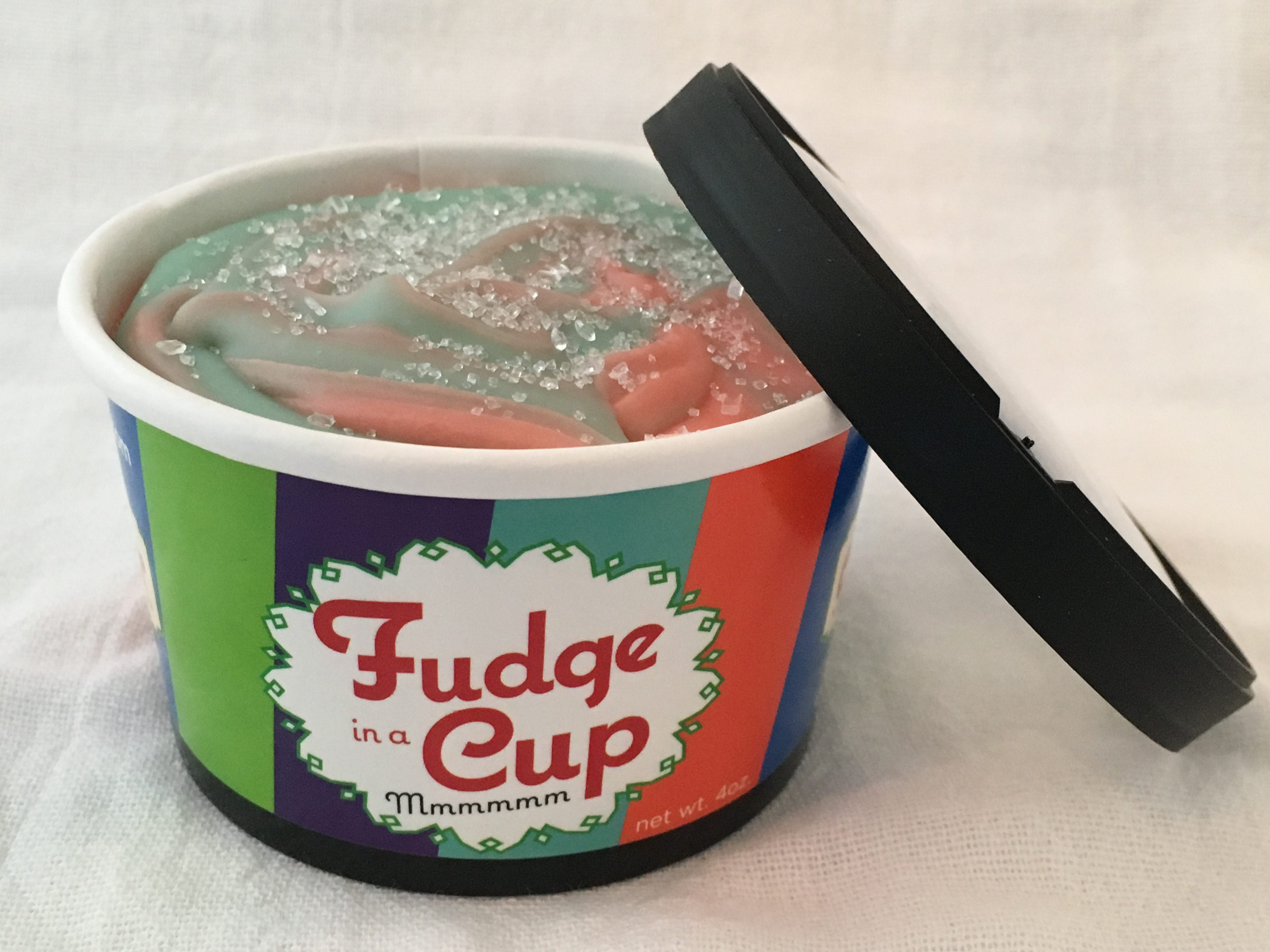 cotton candy fudge in a cup nate s candy jar